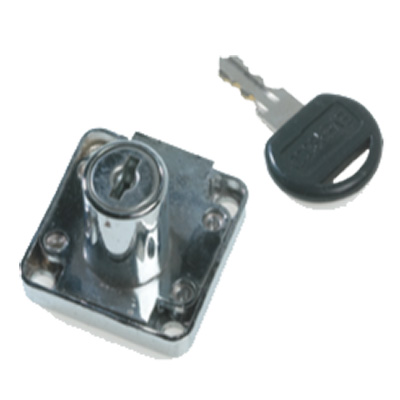 CUPBOARD LOCK - DEADBOLT WITH CYLINDER ROSE AND STRIKE PLATE
